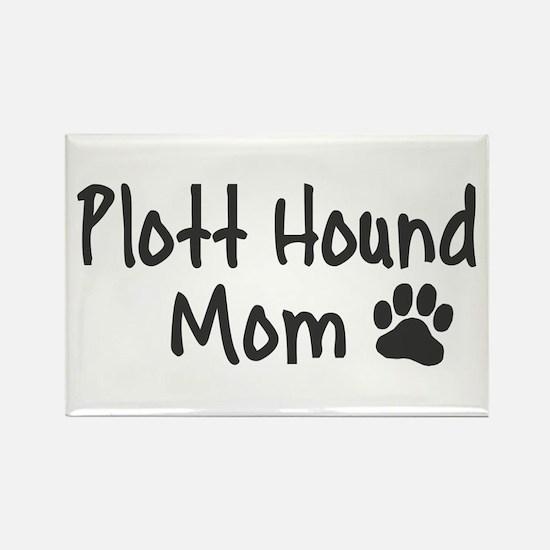 Plott Hound MOM Rectangle Magnet