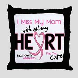 Miss My Mom With All My Heart Breast Cancer Throw