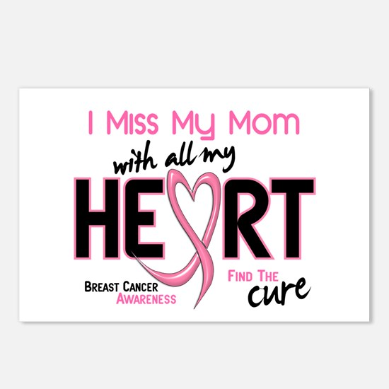 Miss My Mom With All My Heart Breast Cancer Postca