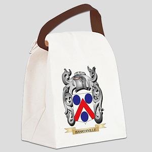Baskerville Family Crest - Basker Canvas Lunch Bag