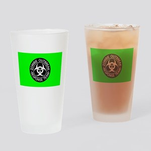 Hot Green Zombies Drinking Glass