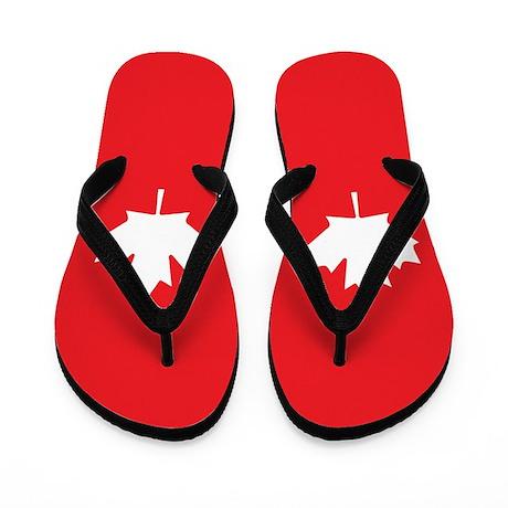 Canada Flag Flip Flops