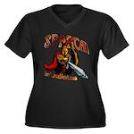 BMV Spartan Women's Plus Size V-Neck Dark T-Shirt