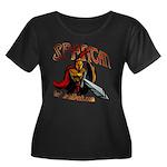 BMV Spartan Women's Plus Size Scoop Neck Dark T-Sh