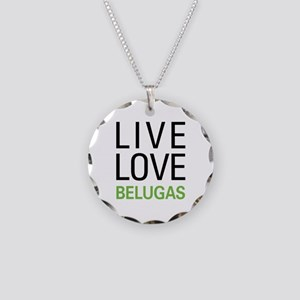 Live Love Belugas Necklace Circle Charm