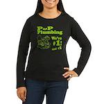 P P Plumbing Women's Long Sleeve Dark T-Shirt