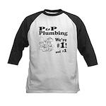 P P Plumbing Kids Baseball Jersey