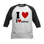 I Love I Heart Shirts Kids Baseball Jersey