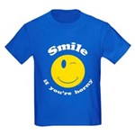 Smile If You're Horny Kids Dark T-Shirt