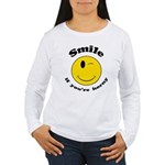Smile If You're Horny Women's Long Sleeve T-Shirt