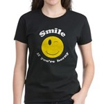 Smile If You're Horny Women's Dark T-Shirt