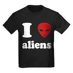 I Love Aliens Kids Dark T-Shirt