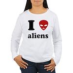 I Love Aliens Women's Long Sleeve T-Shirt
