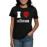 I Love Aliens Women's Dark T-Shirt