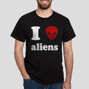 I Love Aliens Dark T-Shirt