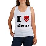 I Love Aliens Women's Tank Top