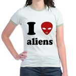 I Love Aliens Jr. Ringer T-Shirt