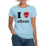 I Love Aliens Women's Light T-Shirt