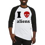 I Love Aliens Baseball Jersey