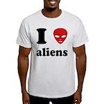 I Love Aliens Light T-Shirt