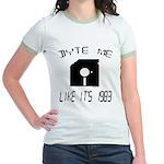 Byte Me 1983 Jr. Ringer T-Shirt