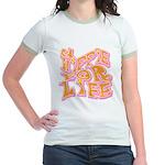 Hippie for Life Jr. Ringer T-Shirt