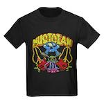 Hippie Musician Kids Dark T-Shirt