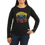 Hippie Musician Women's Long Sleeve Dark T-Shirt