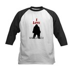 I Love Sasquatch Kids Baseball Jersey