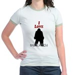 I Love Sasquatch Jr. Ringer T-Shirt