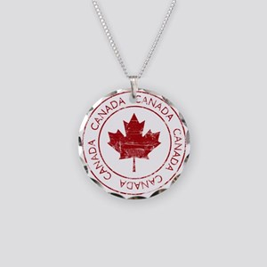 Vintage Canada Necklace Circle Charm