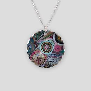 Shema Israel Necklace Circle Charm