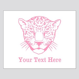 Pink Leopard and Writing. Small Poster