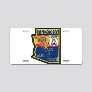 AZ HP Route 66 Aluminum License Plate