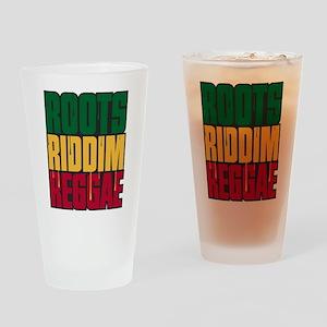 Roots Riddim Reggae Drinking Glass