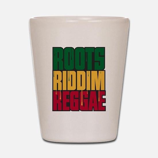 Roots Riddim Reggae Shot Glass