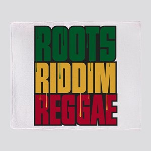 Roots Riddim Reggae Throw Blanket
