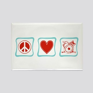 Peace, Love and Drums Rectangle Magnet
