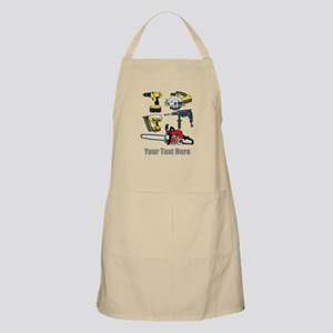 Power Tools and Custom Text. Apron