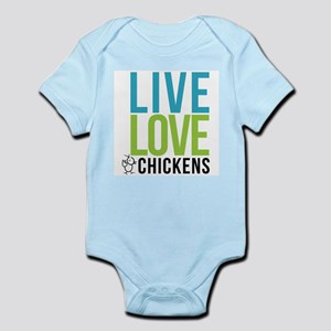 clean: live love chickens Infant Bodysuit