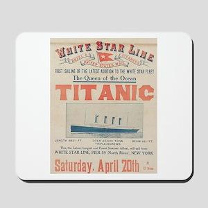 Titanic Advertising Card Mousepad