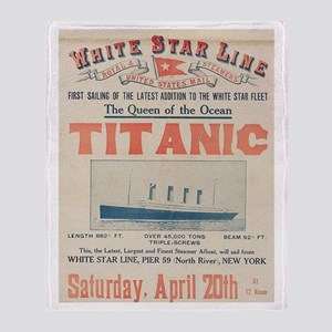 Titanic Advertising Card Throw Blanket
