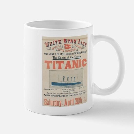 Titanic Advertising Card Mug