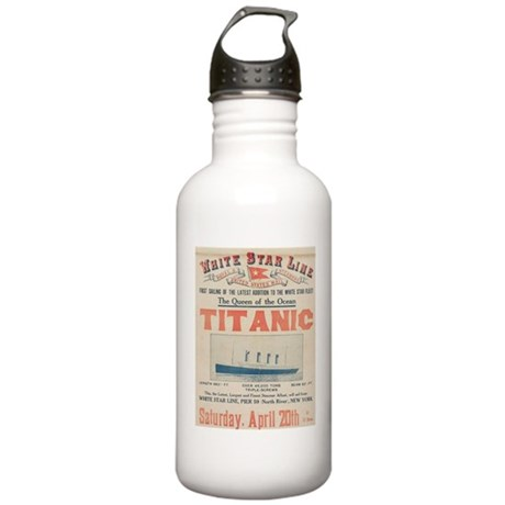 Titanic Advertising Card Stainless Water Bottle 1.