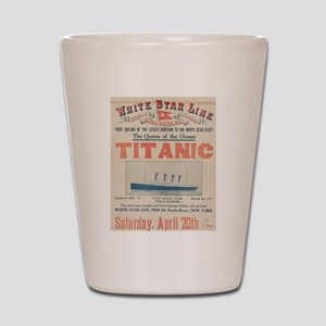 Titanic Advertising Card Shot Glass