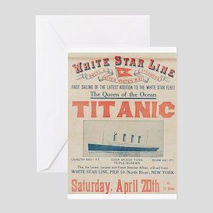 Titanic Advertising Card Greeting Card
