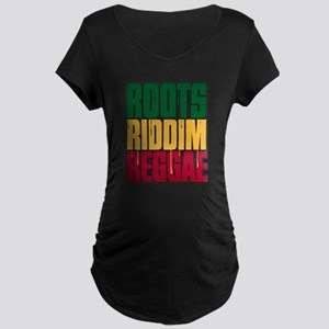 Roots Riddim Reggae Maternity Dark T-Shirt