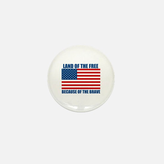 Because of the Brave Mini Button (10 pack)
