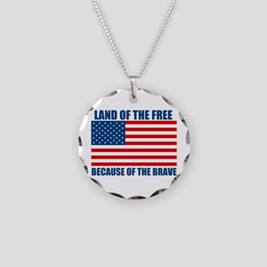 Because of the Brave Necklace Circle Charm