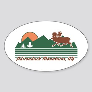 Adirondack Mountains NY Sticker (Oval)